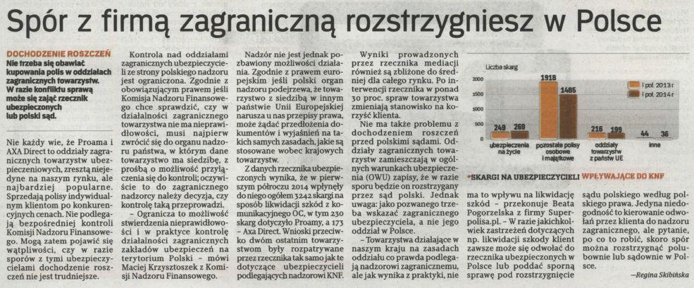 """""""Spór z firmą zagraniczną rozstrzygniesz w Polsce"""" – Rzeczpospolita"""