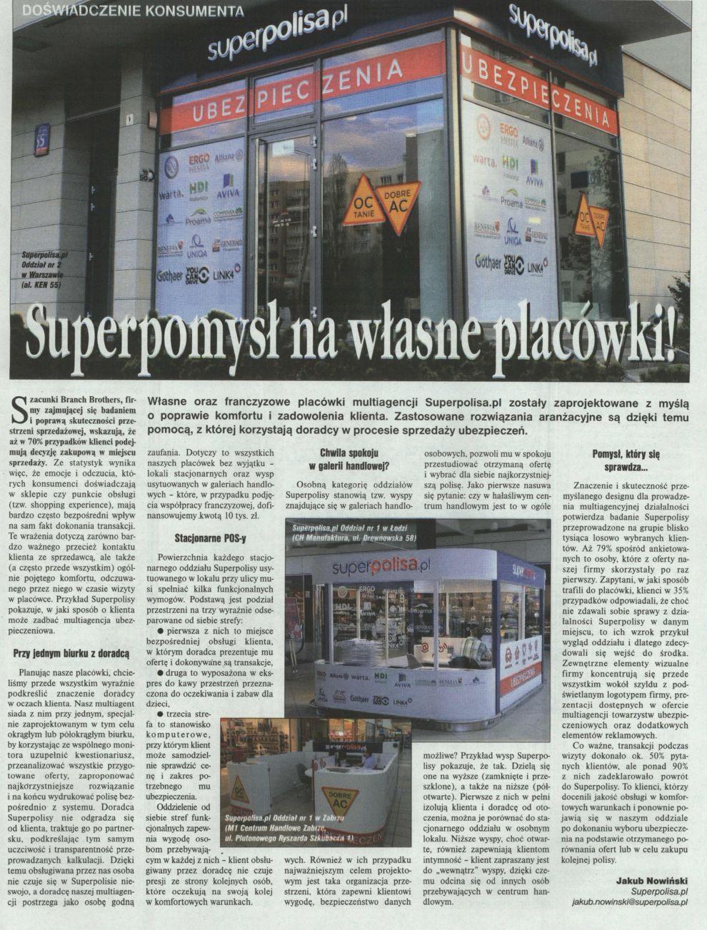 """""""Superpomysł na własne placówki!"""" – Gazeta Ubezpieczeniowa"""