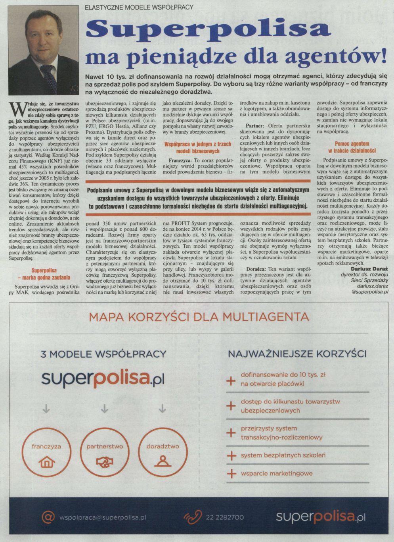 """""""Superpolisa ma pieniądze dla agentów!"""" – Gazeta Ubezpieczeniowa"""