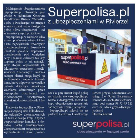 """""""Superpolisa.pl z ubezpieczeniami w Rivierze!"""" – Express Gdyński"""