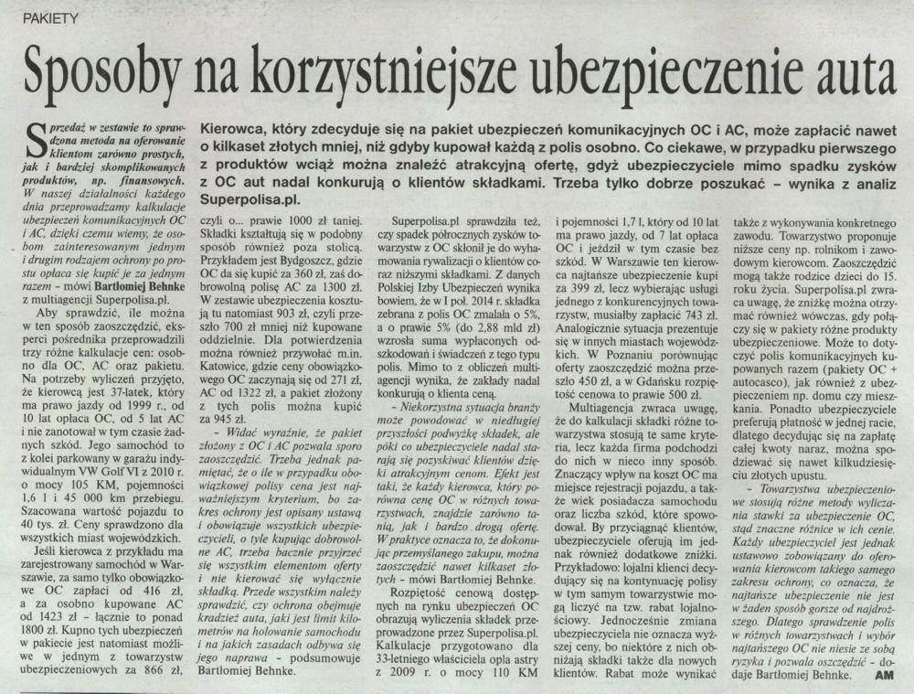 """""""Sposoby na korzystniejsze ubezpieczenie auta"""" – Gazeta Ubezpieczeniowa"""