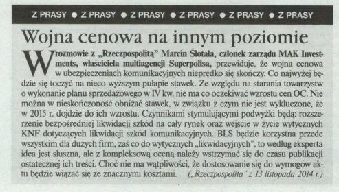 """""""Wojna cenowa na innym poziomie"""" – Gazeta Ubezpieczeniowa"""