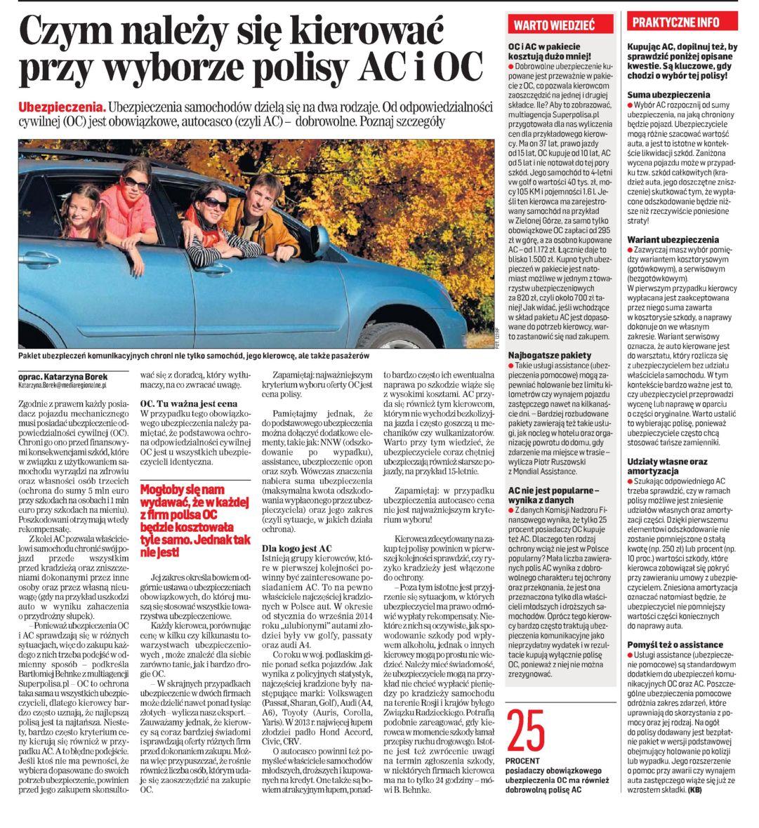 """""""Czym należy się kierować przy wyborze polisy AC i OC"""" – Gazeta Współczesna"""