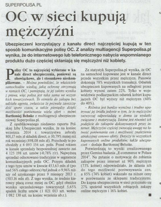 """""""OC w sieci kupują mężczyźni"""" – Gazeta Ubezpieczeniowa"""