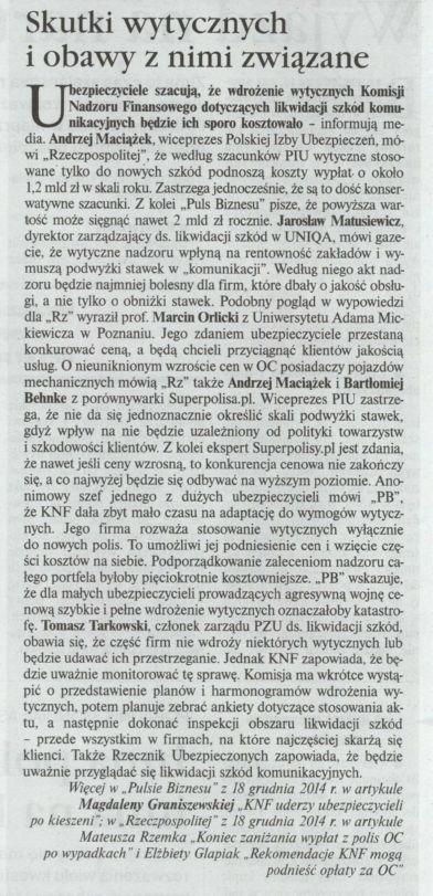 """""""Skutki wytycznych i obawy z nimi związane"""" – Gazeta Ubezpieczeniowa"""