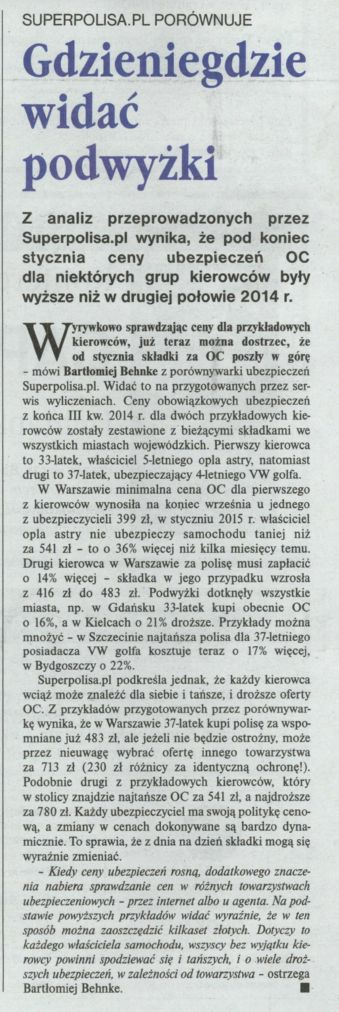 """""""Gdzieniegdzie widać podwyżki"""" – Gazeta Ubezpieczeniowa"""