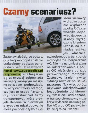 """Czarny scenariusz?"" – Motocykl"