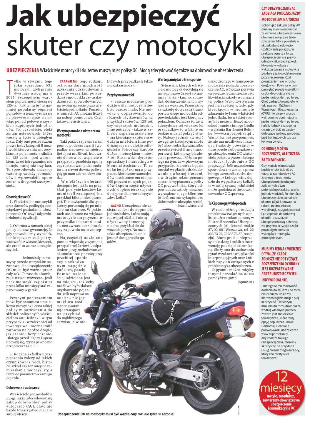 """""""Jak ubezpieczyć skuter czy motocykl"""" – Dziennik Wschodni"""