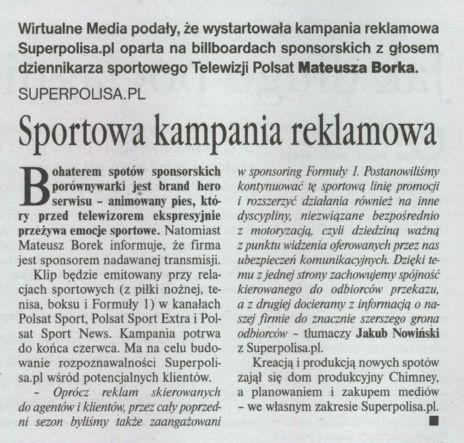 """""""Sportowa kampania reklamowa"""" – Gazeta Ubezpieczeniowa"""