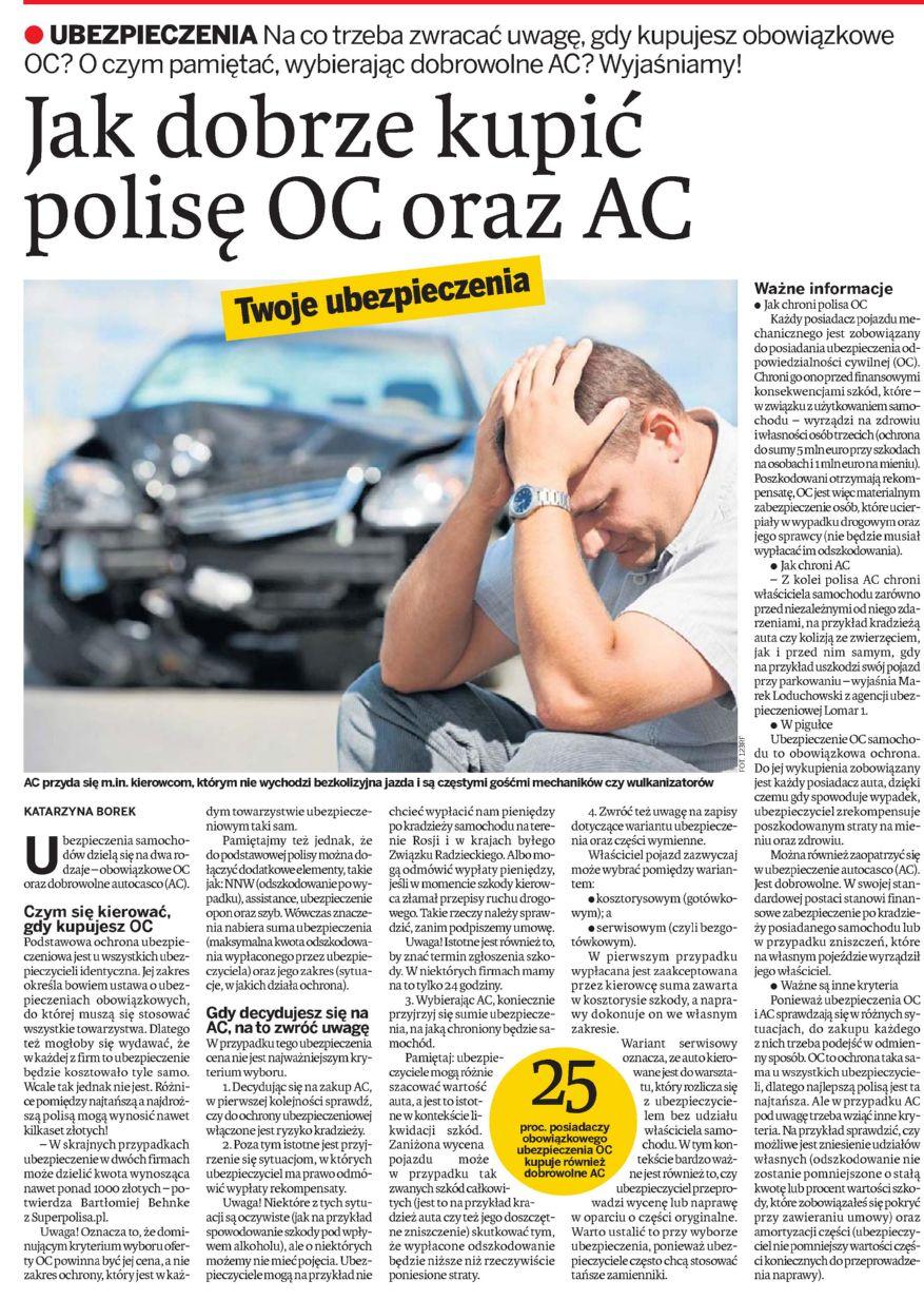 """""""Jak dobrze kupić polisę OC oraz AC"""" – Tygodnik Ostrołęcki"""