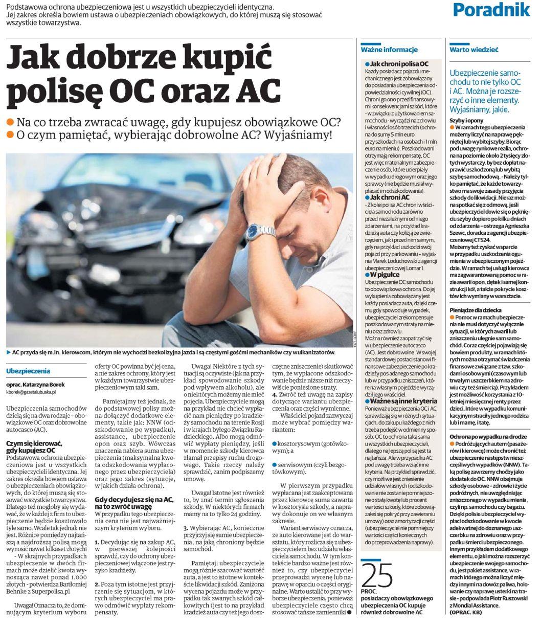 """""""Jak dobrze kupić polisę OC oraz AC"""" – Nowa Trybuna Opolska"""
