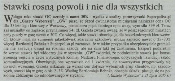 """""""Stawki rosną powoli i nie dla wszystkich"""" – Gazeta Ubezpieczeniowa"""