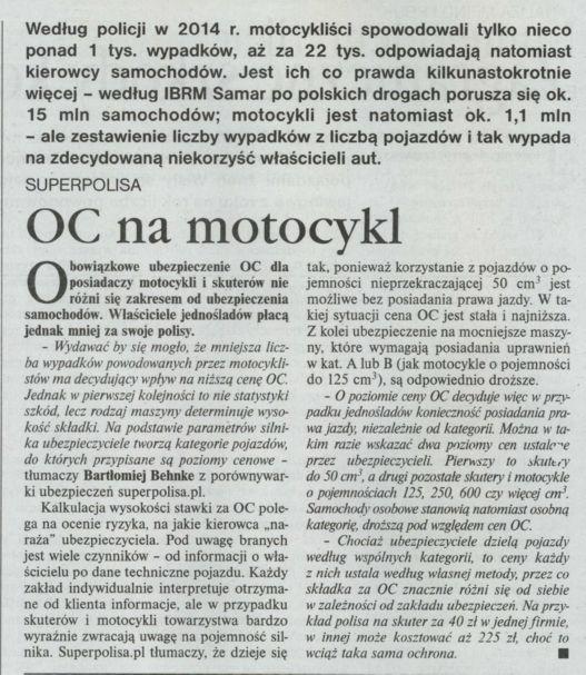 """""""OC na motocykl"""" – Gazeta Ubezpieczeniowa"""