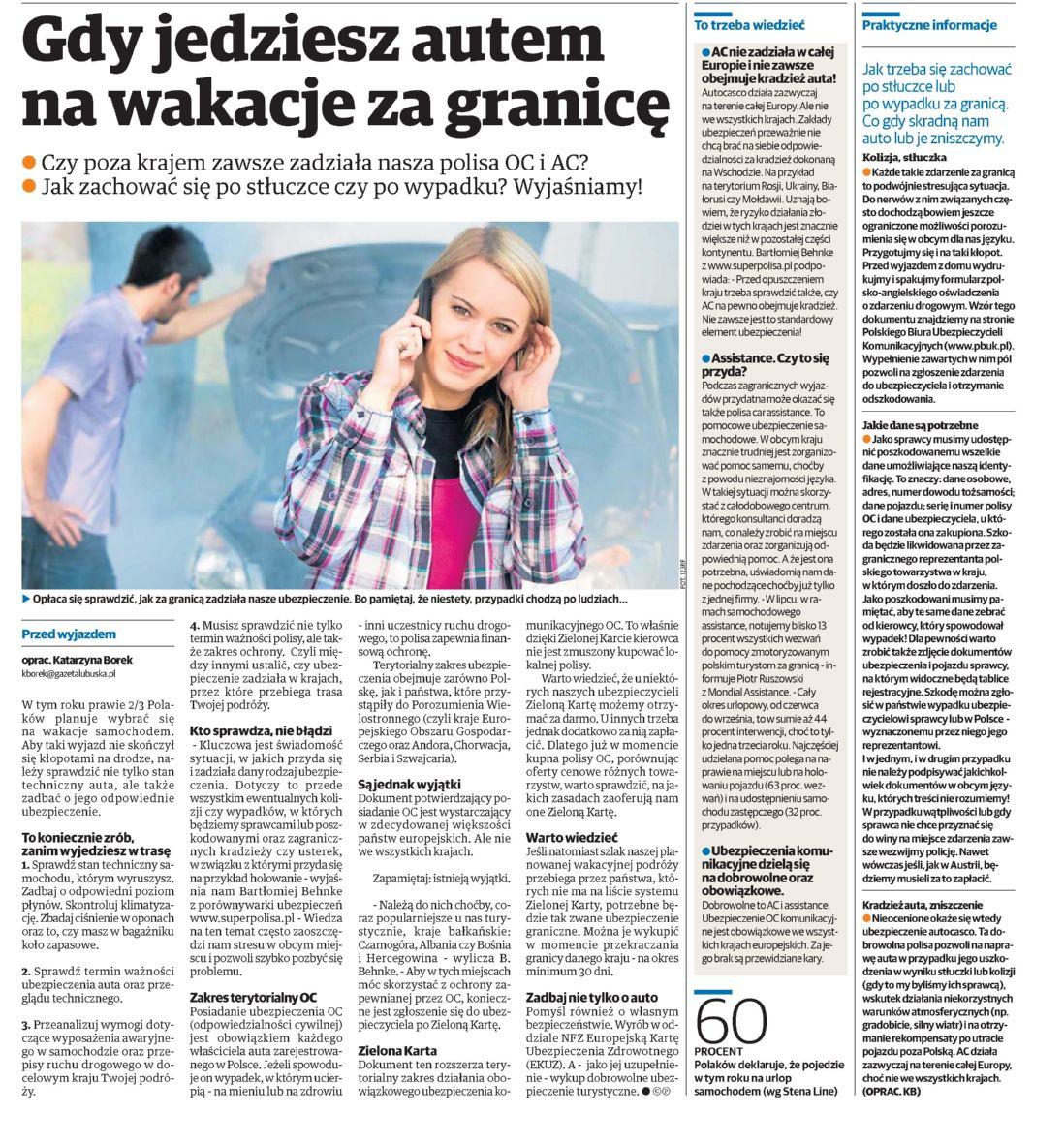 """""""Gdy jedziesz na wakacje za granicę"""" – Polska – Kurier Lubelski"""