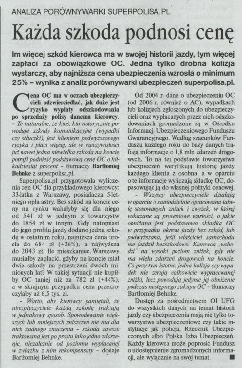 """""""Każda szkoda podnosi cenę"""" – Gazeta Ubezpieczeniowa"""