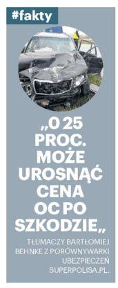 """""""O 25 proc. może urosnąć cena OC po szkodzie"""" – nasze miasto Kraków"""