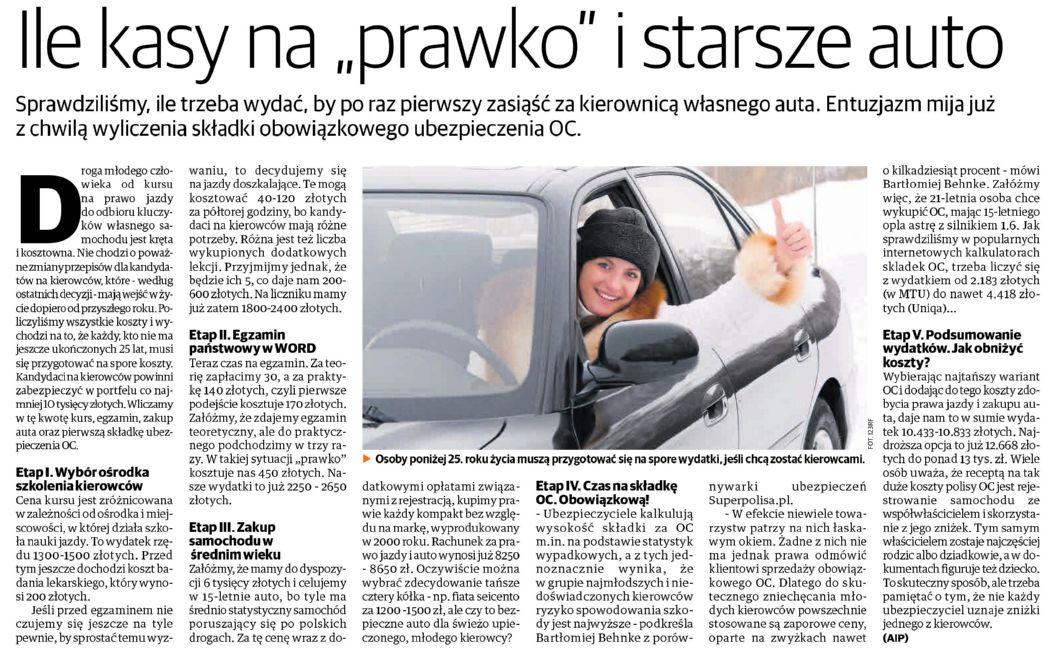 Ile kasy na 'prawko' i starsze auto – Nowa Trybuna Opolska