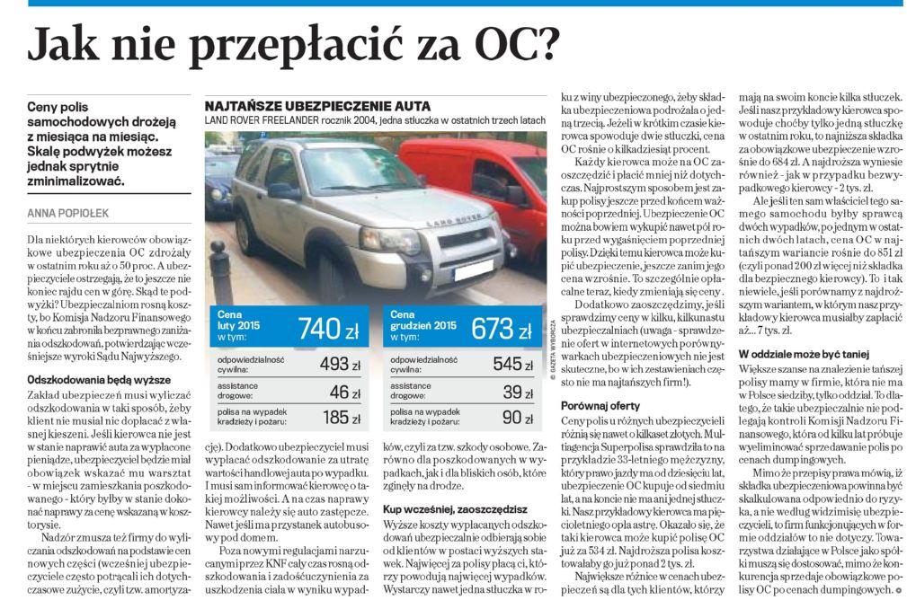 Jak nie przepłacić za OC? – Gazeta Wyborcza