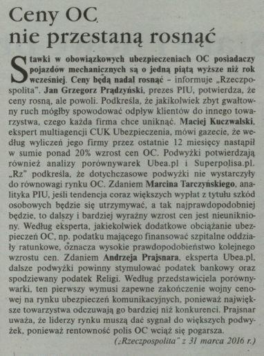 Ceny OC nie przestają rosnąć – Gazeta Ubezpieczeniowa