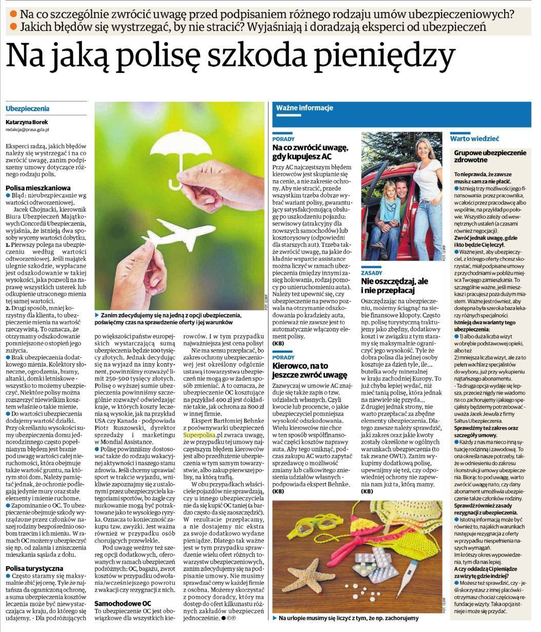 Na jaką polisę szkoda pieniędzy – Dziennik Bałtycki