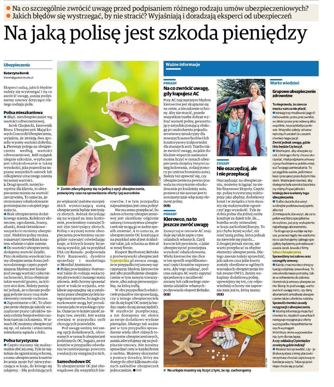 Na jaką polisę szkoda pieniędzy – Nowa Trybuna Opolska
