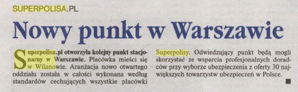 Nowy punkt w Warszawie