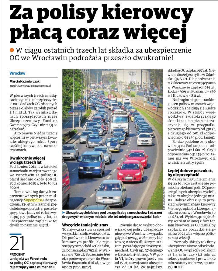 Za polisy kierowcy płacą coraz więcej