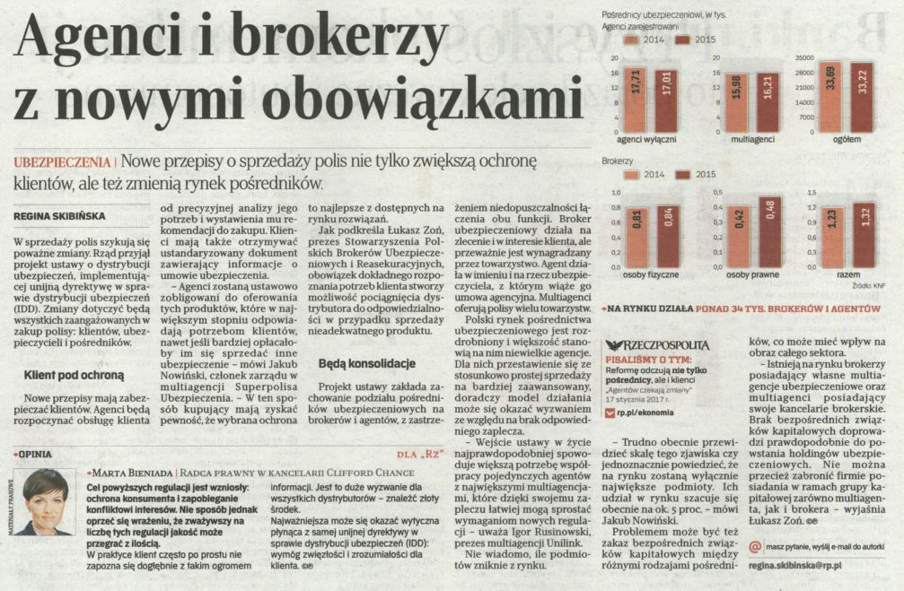 Agenci i brokerzy z nowymi obowiązkami